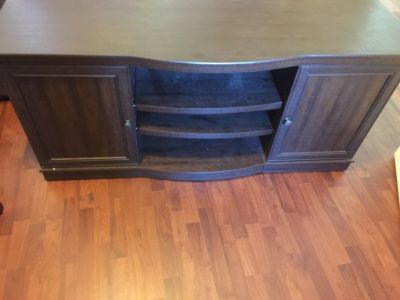 Mahogany brown ENTERTAINMENT UNIT 6' long. Never used!