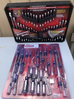 Gear 32 PC Ratcheting Wrench Set & 41 PC Screwdriver Set
