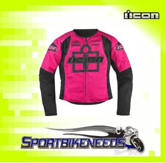 Sell Icon Womens Overlord Type 1 Jacket Pink Size X-Large XL motorcycle in Elkhart, Indiana, US, for US $215.00