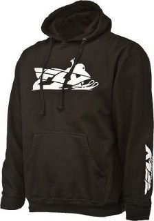 Buy Fly Racing Snow Casual Men's Primary Hoodie Black Sled Graphic Hooded Sweatshirt motorcycle in Golden, Colorado, United States, for US $44.96