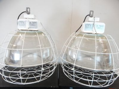 Pair of Lithonia Lighting 400W Halide Lamps