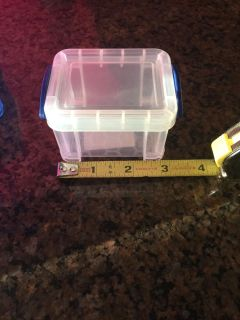 5 mini stackable storage containers