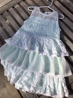 Girls size 6, Mint and lace dress! Perfect for Christmas!