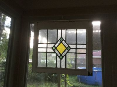 Antique Stain Glass Window medium