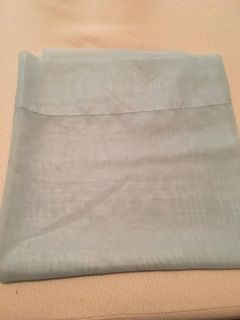 4 baby blue sheer curtains