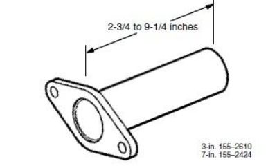 Purchase Cummins Onan 155-2424 Straight Downtube Exhaust Adapter motorcycle in Azusa, California, US, for US $38.01