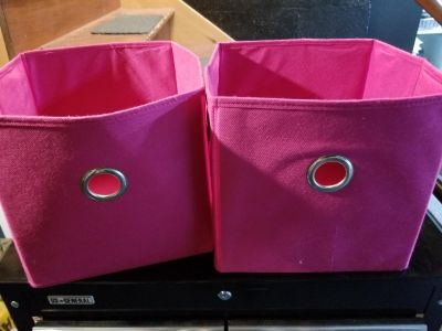2 pink canvas totes