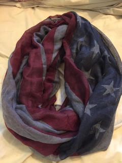 Gray-toned American Flag Infinity Scarf