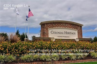 Wellmaintained townhome in Colonial Heritage in Williamsburg