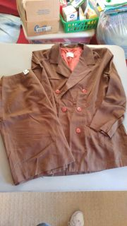 Brown Summer-weight Suit - Skirt is 14, Jacket is 12