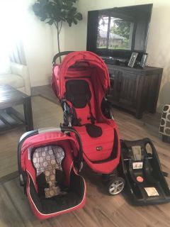 Britax Stroller and Car seat with base