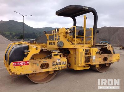 2006 (unverified) Sakai SW800 Vibratory Double Drum Roller