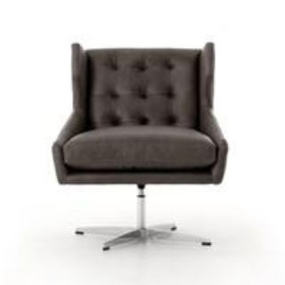 ACADIA SWIVEL CHAIR BROWN LEATHER