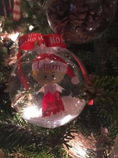 Personalized elf on the shelf ornament .
