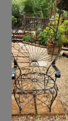 Vintage rod iron chairs