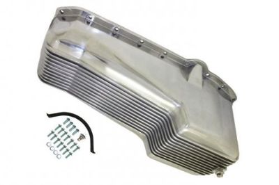 Sell Polished Finned Aluminum SB Chevy Oil Pan W/ Bolts 283 327 350 1958 - 78 Hot Rod motorcycle in Chatsworth, California, United States, for US $67.94