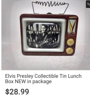Elvis presley collectible tin lunch box
