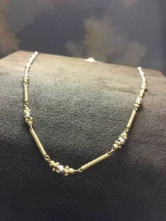 14kt yellow gold spring link chain necklace