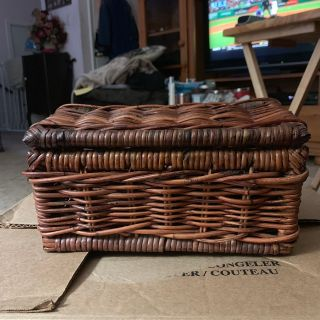 Wicker case/basket storage