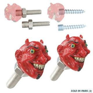 Buy RED DEVIL LICENSE PLATE BOLTS RAT HOT ROD CHOPPER BIKE BOBBER CUSTOM LOWIRDER VW motorcycle in Sacramento, California, US, for US $15.99