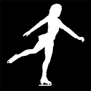 Purchase ICE SKATER decal for girl figure skating skates rink in winter sports fan car motorcycle in Mentor, Ohio, United States, for US $5.98