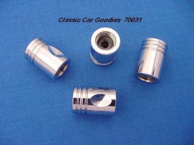 """Buy Tire Valve Caps """"Chrome Pistons"""" (4) Metal New! motorcycle in Aurora, Colorado, United States, for US $20.99"""