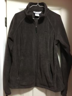 Perfect Condition Columbia Chocolate Brown Fleece Jacket Size XL