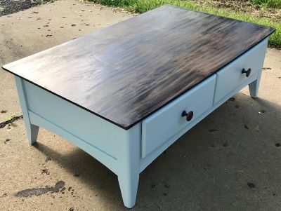 Coffee table brought back to life.
