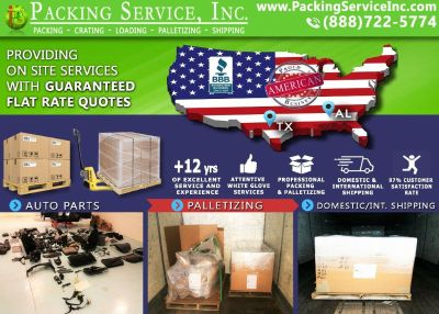 Packing Service, Wichita - TX, Loading Company, Custom Crating, Wooden Crates