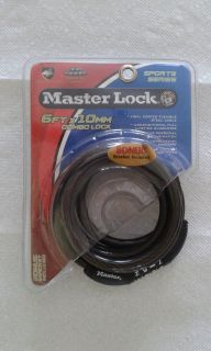 Masterlock Bicycle 6' Combination Cable Lock with Bracket