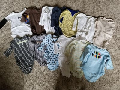 Large lot of 3month boy clothes
