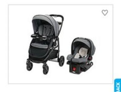 BRAND NEW Graco Click Connect Travel System Downtown