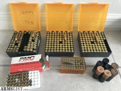 For Sale: Mixed ammo lot 38 Super (233) 40 S&W (32) 25 Auto (37) Brass (335)