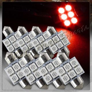 Buy 8x 31mm 6 SMD Red LED Festoon Dome Map Glove Box Trunk Replacement Light Bulbs motorcycle in Walnut, California, United States