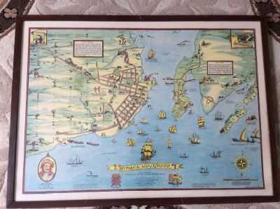 1948 Historical Pictorial Map Print of Kingston Ontario