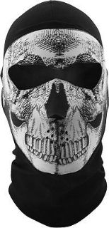 Purchase Zan Headgear White/Black Adult Coolmax Skull Balaclava 2016 motorcycle in Ashton, Illinois, United States, for US $26.98