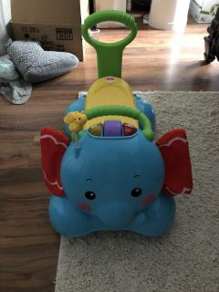 Elephant sing and ride on toy