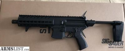 For Sale: New sig mxp 8 9mm with brace with extra mags