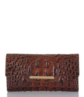 ***BRAHMIN Luxury Melbourne Collection Crocodile-Embossed Soft Checkbook Wallet**