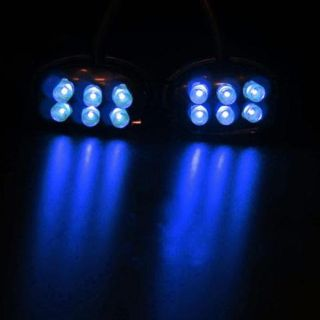 Sell STREET-FX ELECTROPOD BLUE LED ATV BLACK OVAL PODS 1043916 motorcycle in Ellington, Connecticut, US, for US $21.99