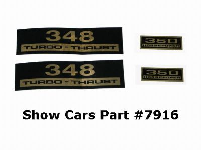 Buy VALVE COVER DECALS KIT 61,60,59,58,CHEVY CHEVROLET IMPALA BELAIR 348 350HP motorcycle in New Ulm, Minnesota, US, for US $12.95