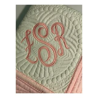 Personalized Monogrammed Baby Quilt/Baby Blanket To see more designs visit: www.sewcutebabyquilts.us