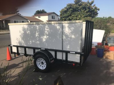 New 5 1/2 W 10 Lth Partially Enclosed Utility Trailer