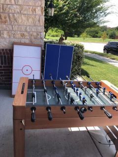 FoosBall/AirHockey/Ping Pong (All in One)