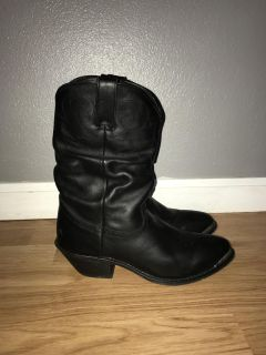 Women s black leather cowgirl boots