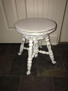 Antique piano stool painted Southern Honey