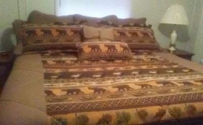 King size comforter with pillow and pillow covers never used SF home