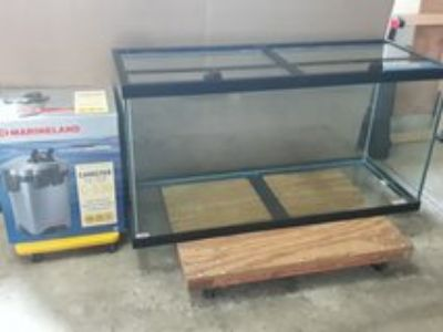 90 gallon aquarium with canister filter