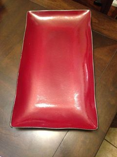 Beautiful red tray. Swap only.