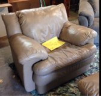leather sofa with matching chair